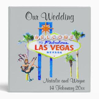 Personalized Las Vegas Wedding Album 3 Ring Binder