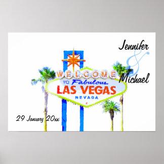 Personalized Las Vegas Wedding Reception Banner Poster