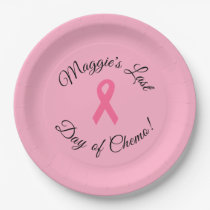 "Personalized ""Last Day of Chemo"" Paper Plates"