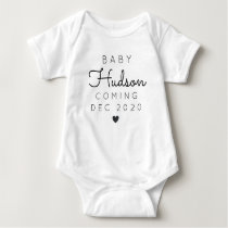 Personalized Last Name Announcement Baby Bodysuit