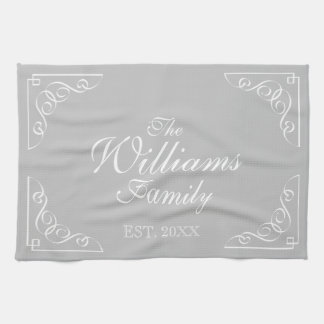 Personalized last name country chic kitchen towel