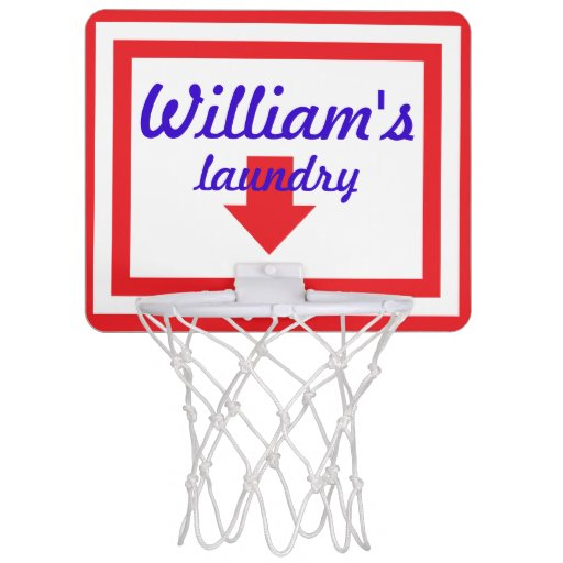 Personalized Laundry Basketball Hoop Backboard Mini Basketball Backboards Zazzle
