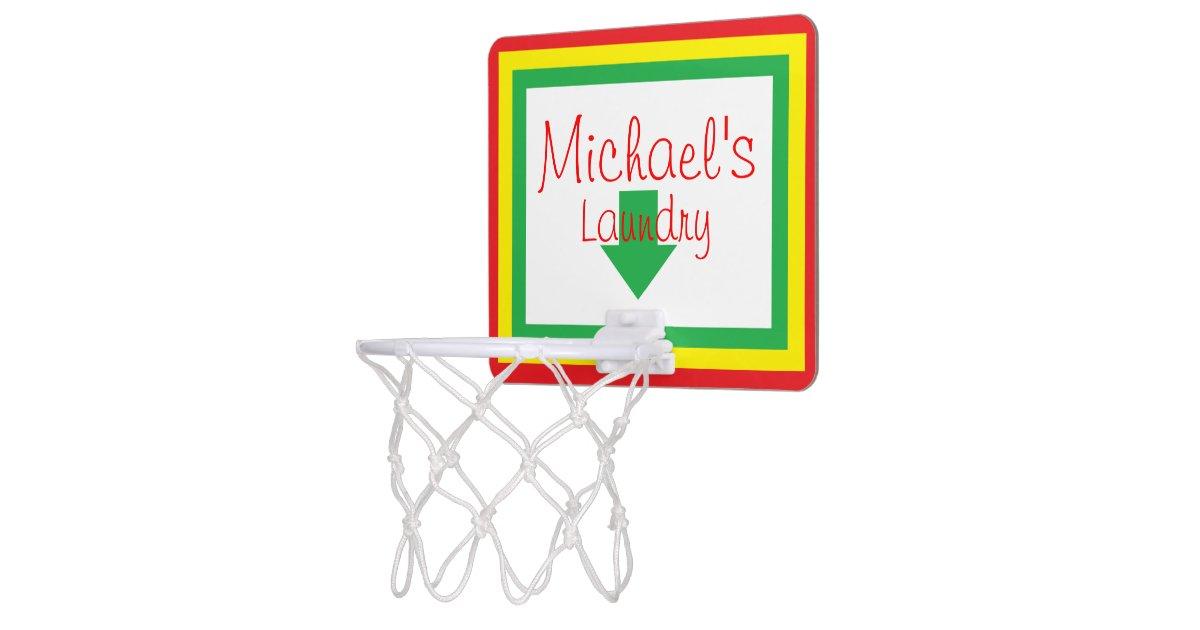 Personalized laundry basketball hoop mini basketball hoops zazzle - Laundry basket basketball hoop ...