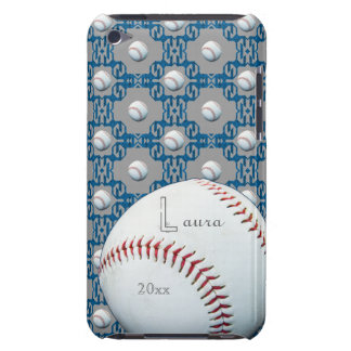 Personalized Laura Baseball Motif Ipod Touch Case