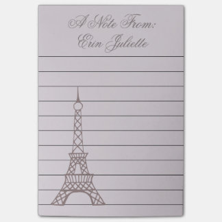 Personalized Lavender Eiffel Tower Post It Notes