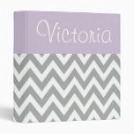 Personalized Lavender Gray Binder