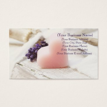 Professional Business Personalized Lavender Heart Soap Farmhouse Style Business Card