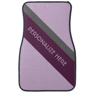 Personalized Lavender Maroon Gray Angled Car Floor Mat