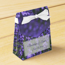 Personalized Lavender Wedding Favor Boxes