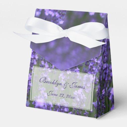 Personalized Lavender Wedding Favor Boxes Zazzle