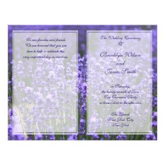 Personalized Lavender Wedding Programs Flyer