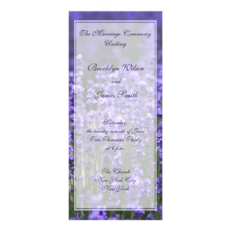 Personalized Lavender Wedding Programs Rack Cards