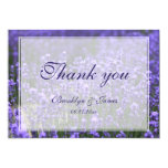 Personalized Lavender Wedding Thank You Card
