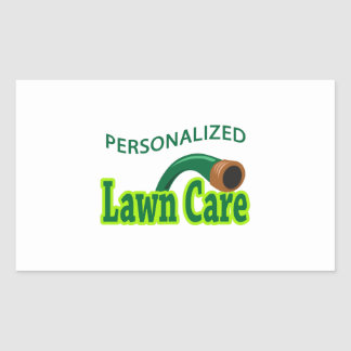 PERSONALIZED LAWN CARE RECTANGULAR STICKER