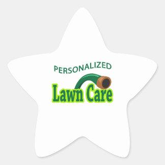 PERSONALIZED LAWN CARE STAR STICKER
