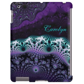Personalized Layered Fractal Abstract iPad Case