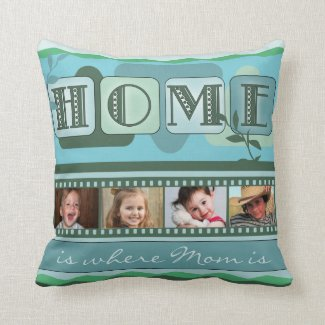 Personalized Leafy Green Photo Pillow