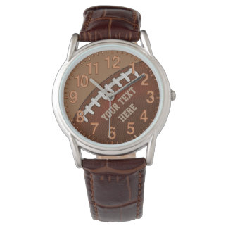 Personalized Leather Football Watches
