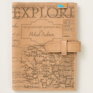 Personalized Leather Journal - TRAVEL Adventures