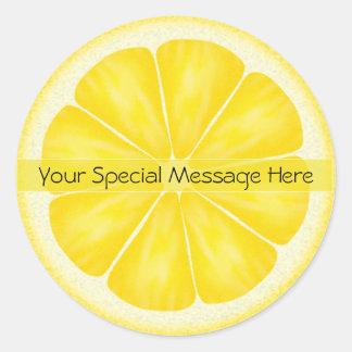 Personalized Lemon Slice Stickers