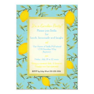 lemon tree invitations zazzle