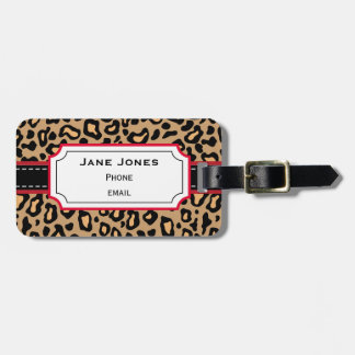 Personalized Leopard Luggage Tag