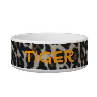 Personalized leopard Print Cat Bowls