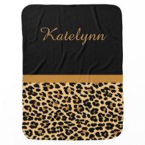 Personalized Leopard Print Custom Baby Blanket