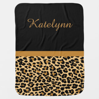 Personalized Leopard Print Custom Baby Blanket