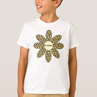 Personalized Leopard Print Flower T-Shirt