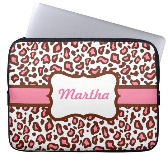 Personalized Leopard Print Laptop Sleeve