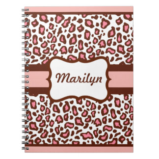 Personalized Leopard Print Notebook