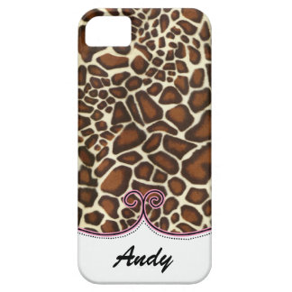 personalized leopard print pink trendy iPhone 5 cover