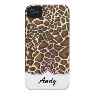 personalized leopard print pink trendy iPhone 4 Case-Mate cases