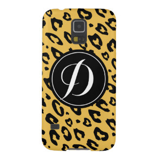 Personalized leopard print Samsung Galaxy S5 case