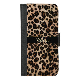 Personalized Leopard Wallet Case for iPhone 6
