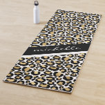 Personalized Leopard Yoga Mat