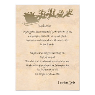Personalized Letter From Santa 6.5x8.75 Paper Invitation Card