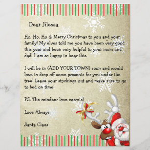 Official Letter From Santa Claus Template on north pole, template word, thank you, how make, how get, mark twain, head official,