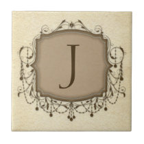 Personalized Letter Tiles, Decorative Chandelier J Tile