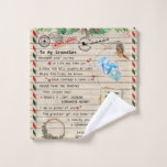 Personalized Letter To My Grandson From Grandpa, Wash Cloth