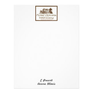 Personalized letterhead -logo of a Victorian Hotel