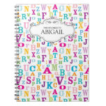 Personalized Letters Spiral Bound Notebook