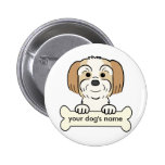 Personalized Lhasa Apso Button
