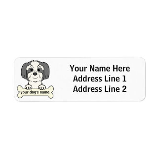 Personalized Lhasa Apso Label