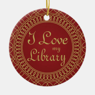 Personalized Library Ornament Librarian Gift