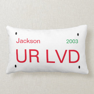Personalized License Plate Accent Pillow