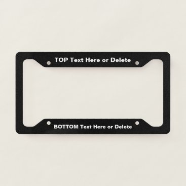 Professional Business Personalized License Plate Holder License Plate Frame