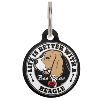 Personalized Life Is Better With A Beagle Pet ID Tag