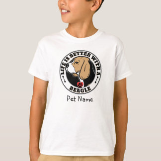 Personalized Life Is Better With A Beagle T-Shirt
